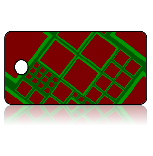 Create Design Key Tags Green Red Diagonal Geometric