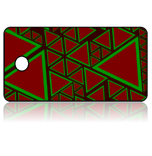 Create Design Key Tags Green Red Triangles Modern