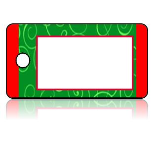 Create Design Key Tags Green Red Swirls Modern
