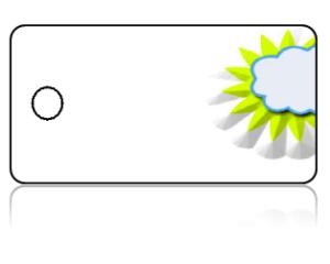 Create Design Key Tags Yellow Sun Sunshine White Background