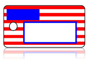 Create Design Key Tags Red White Blue Flag Modern