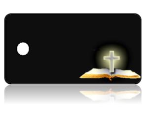 Create Design Key Tags Bible Cross Black Background