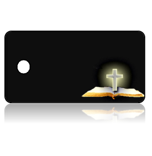 Create Design Key Tags Bible Cross Black Background