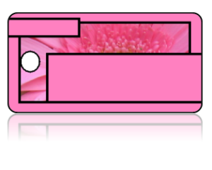 Create Design Key Tags Pink Flower