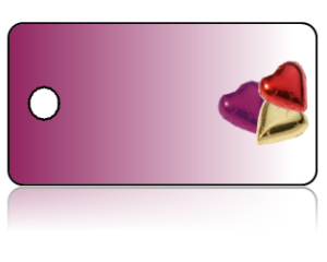 Create Design Key Tags Red Hearts