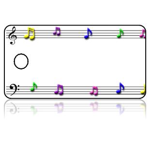 Create Design Key Tags Sheet Music