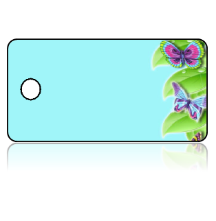 Create Design Key Tags Butterfly Blue Background