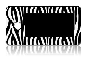 Create Design Key Tags Black White Zebra Stripes