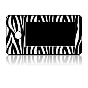 Create Design Key Tags Black White Zebra Stripes