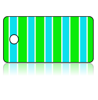 Create Design Key Tags Blue Stripes Green Stripes