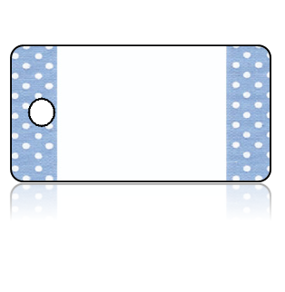 Create Design Key Tags Blue White Polka Dot
