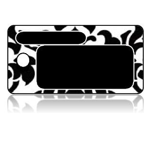 Create Design Key Tags Black White Damask Frame