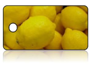 Create Design Key Tags Yellow Lemons