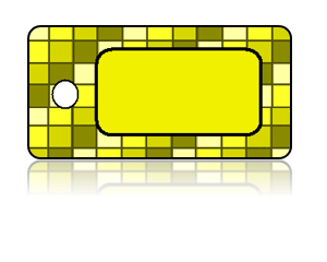 Create Design Key Tags Yellow Gold Square Checker