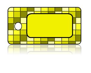 Create Design Key Tags Yellow Gold Square Checker