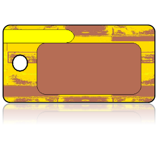 Create Design Key Tags Yellow Brown Art Deco