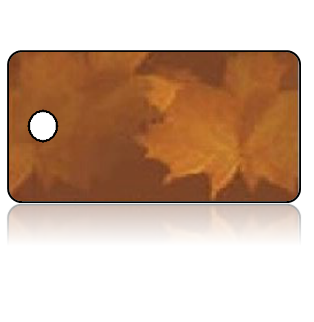 Create Design Key Tags Soft Brown Leaves