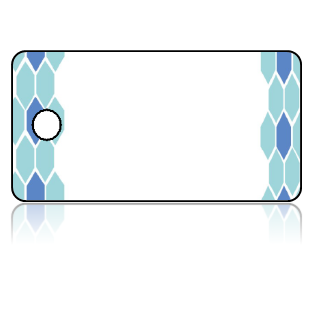 Create Design Key Tags Blue Borders Modern Pattern