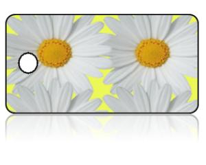 Create Design Key Tags Yellow White Flowers Daisy