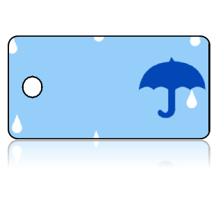 Create Design Key Tags Blue Rain Water Umbrella