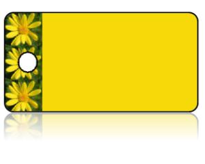 Create Design Key Tags Yellow Flowers Daisy