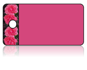 Create Design Key Tags Pink Flowers Carnations