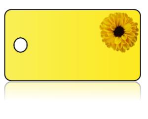 Create Design Key Tags Yellow Mum Flower Yellow Background