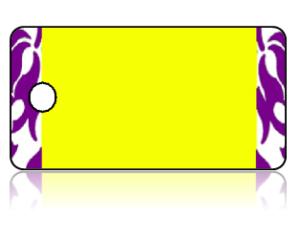 Create Design Key Tags Yellow Purple Damask Modern