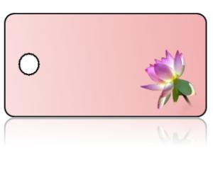 Create Design Key Tags Purple Flower Pink Background