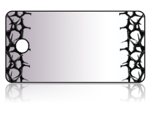 Create Design Key Tags Black Grey Thorns Crown