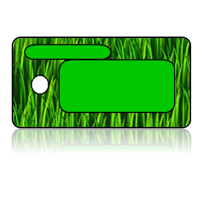 Create Design Key Tags Green Grass