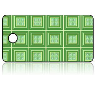 Create Design Key Tags Two Tone Green Tiles