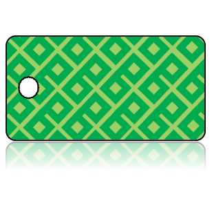 Create Design Key Tags Two Tone Green Geometric Pattern