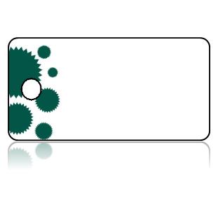 Create Design Key Tags Green Cupcake Liner Border White Tag