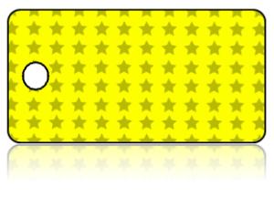 Create Design Key Tags Yellow Gray Star Pattern