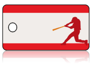 Create Design Key Tags Sports Baseball Player Batter