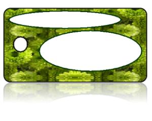 Create Design Key Tags Green Mums