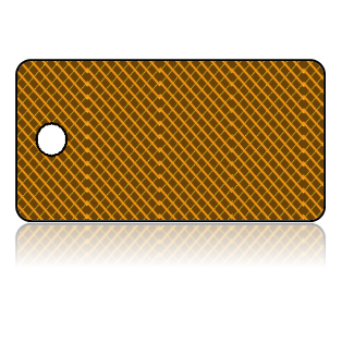 Create Design Key Tags Tiny Lattice Brown Modern