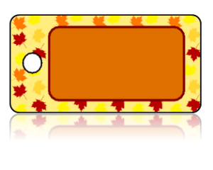 Create Design Key Tags Leaves Orange Red Yellow Brown