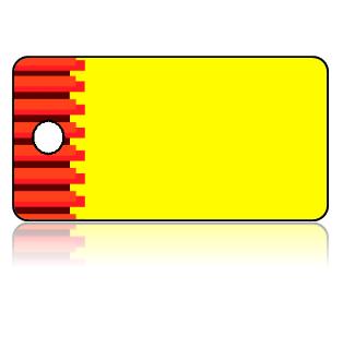 Create Design Key Tags Yellow Background Orange Brown Jenga