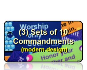 Bible Scripture Key Tags Assortment Packs 10 Commandments Modern Style