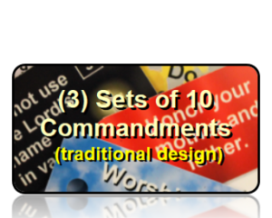 Bible Scripture Key Tags Assortment Packs 10 Commandments Traditional Style