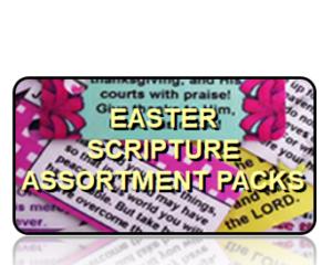 Bible Scripture Key Tags Assortment Packs Easter