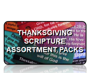 Scripture Key Tag Assortment Pack Thanksgiving Holiday