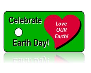 Celebrate Earth Day Key Tag Heart Design