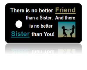 Sisters Celebration Key Tags