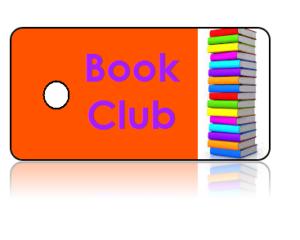 Book Club Orange Background Key Tags