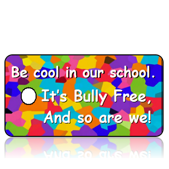 Education02 - Bully Free - Be cool in our school. It's bully free, and so are we! Colorful Camoflage - REVISED BACKGROUND