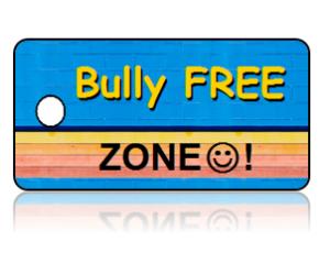Bully Free Zone Education Key Tags