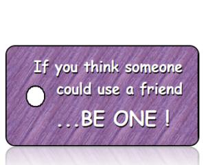 Bully Free Purple Diagonal Stripes
